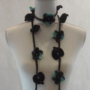 Lariat, Necklace, Hand Crafted, Long, Crochet